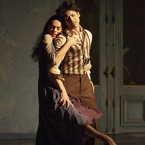 "Herman Cornejo y Alessandra Ferri, en ""Chéri"". Foto: Joan Marcus, para Signature Theatre."