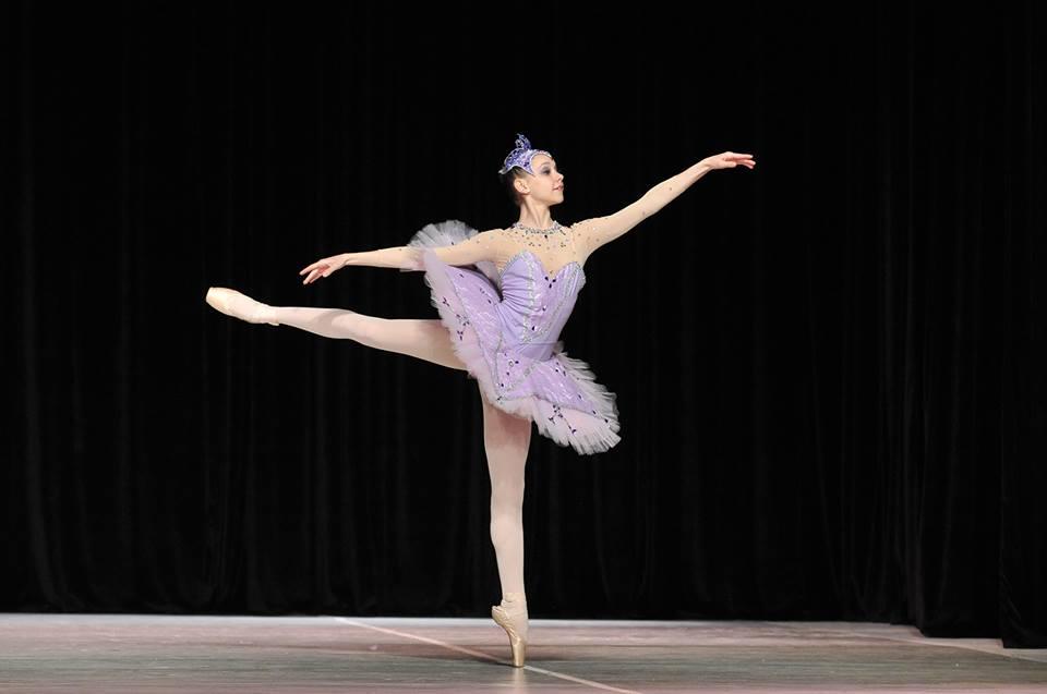 Daiana en el Prix de Lausanne. De concurso en concurso, Daiana logró llegar a esta instancia. Foto: Gentileza.