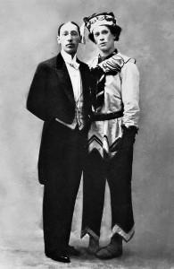 """Stravinsky y Nijinsky en """"La consagración de la primavera""""."""