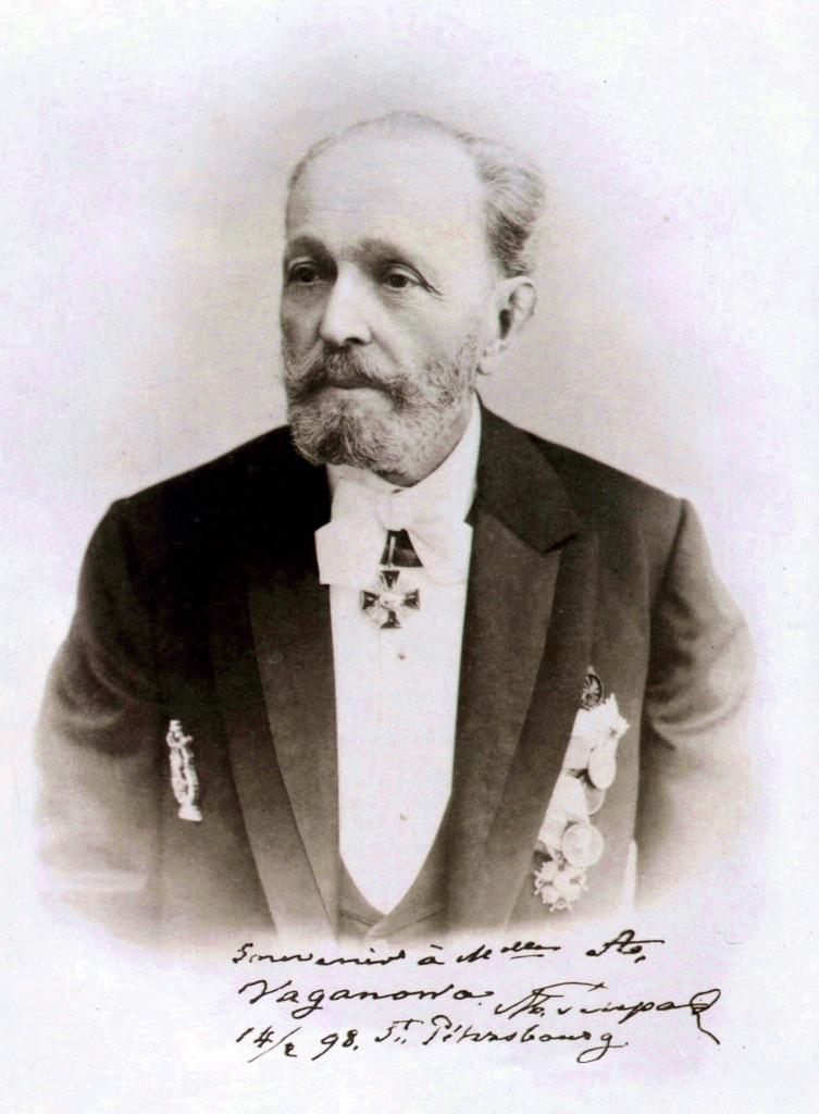 El Maestro Marius Petipa, en 1898.