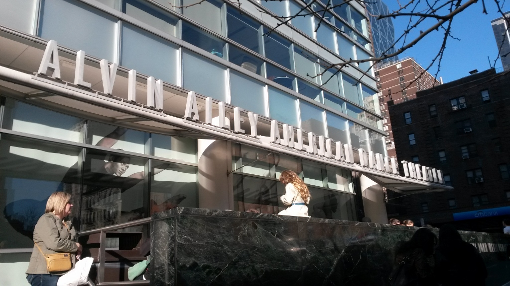 Fachada de los estudios Alvin Ailey, en Nueva York, donde los chicos toman clase en el marco de la competencia. Foto: REVOL.