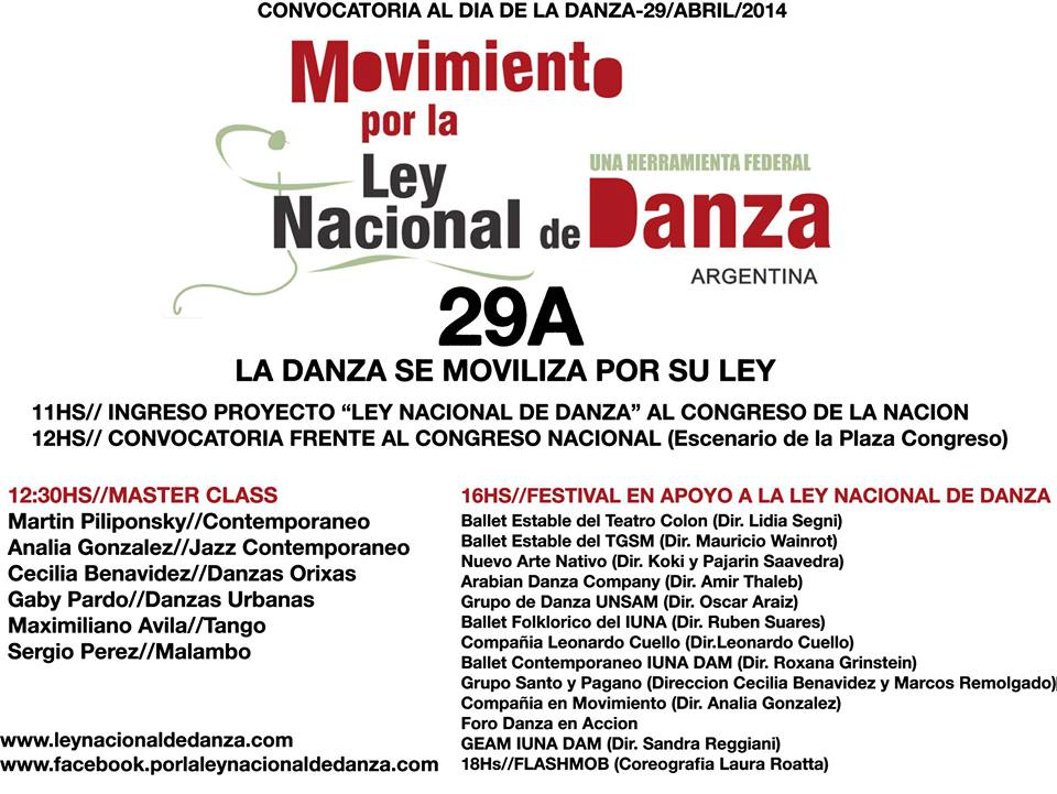 Ley Nacional de Danza Grupos que participan