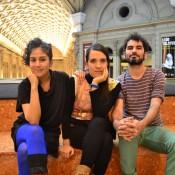 Morena Pozo, Victoria Zotalis y Ramiro Luengo, integrantes de Punto Rojo. Foto: REVOL.