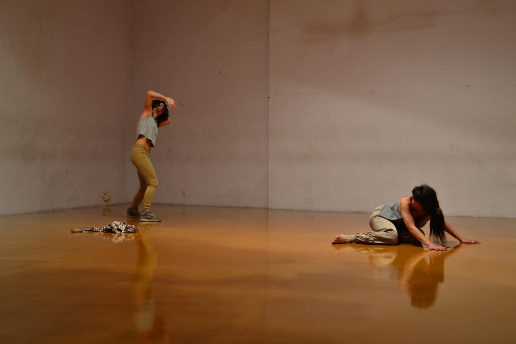 Moverse, parar. Retroceder, parar. Beli Rotela y Dai Berlasconi, en escena. Foto: Revol.