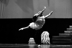 Julieta Paul, en ensayo. Foto: Carlos Villamayor.