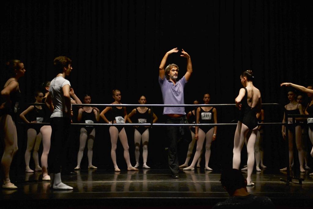 Luca Masala, en clase en el Teatro York en 2013. Foto: REVOL.