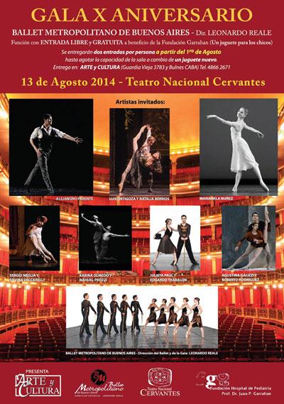 Gala solidaria por el 10° Aniversario del Ballet Metropolitano de Buenos Aires.