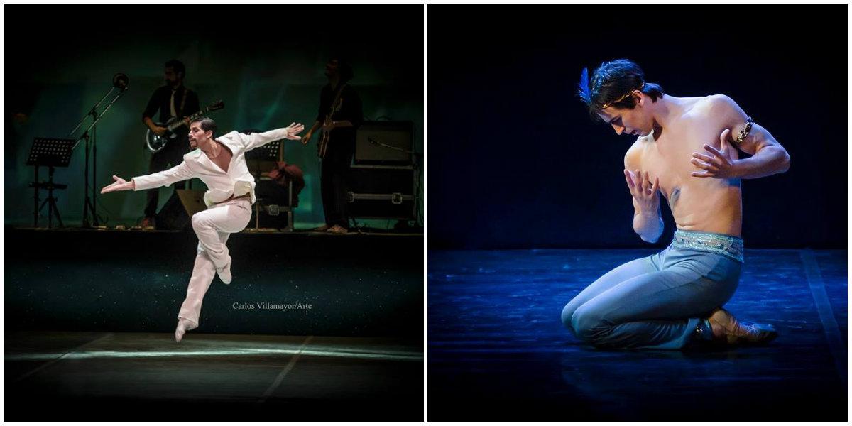 Bautista Parada (Foto de Carlos Villamayor) y Miguel Ángel Klug, bailarines del Teatro Argentino de La Plata. Fotos: Gentileza Arte y Cultura.
