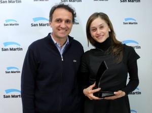Marianela Nuñez, en 2013, homenajeada como Ciudadana Ilustre de San Martín, junto a Gabriel Katopodis, el intendente. Foto: Gentileza Arte y Cultura.