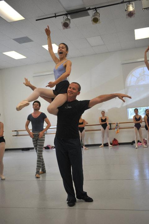 Mischa Tchoupakov en clase en Estados Unidos. Foto: Gentileza.