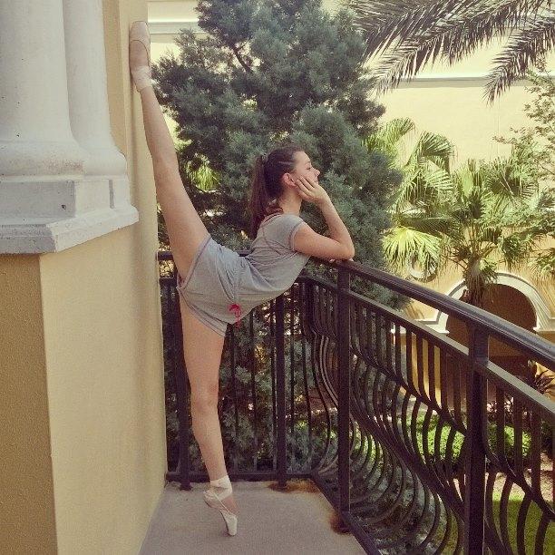 Daiana, en Orlando, disfrutando su estadía en la escuela de ballet. Foto: Gentileza Daiana Alvarez.