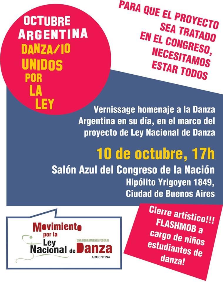 Ley Nacional de Danza Flyer