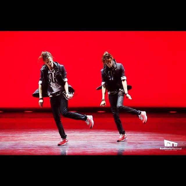 """Bailando su creación """"Chant et Fugue"""", en el Auditorio Nacional de México. Foto: Gentileza."""