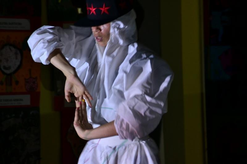 Javiera Sáez, bailando en el Magnasco. Foto: REVOL.