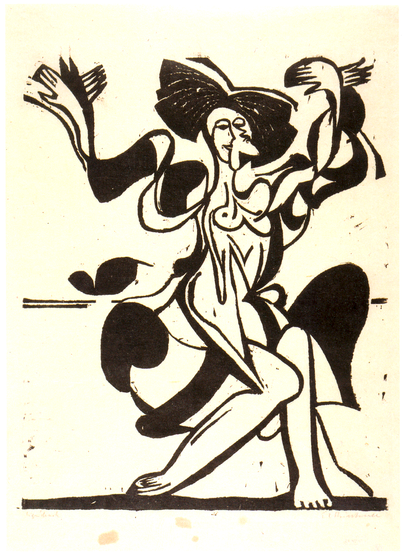 "Dibujo de Ernst Ludwig Kirchner, ""Die Tanzende Mary Wigman"" (1933)"