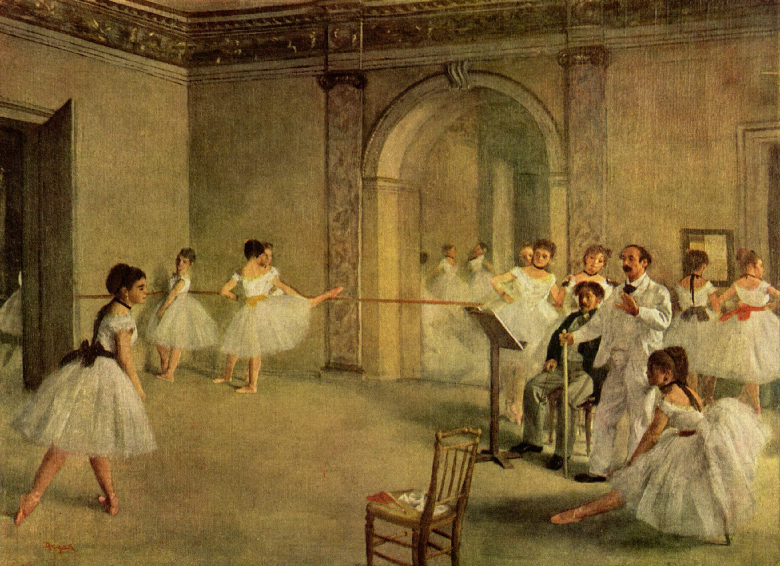 "Edgar Degas, ""The Dance Foyer at the Opera on the rue Le Peletier"" (1872)"