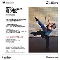 Ballet San Martin cartelera abril