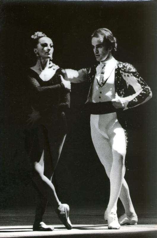 "Violeta Janeiro, junto a Alejandro Totto, en ""Carmen"". Foto: Gentileza Ricardo Alfonso."