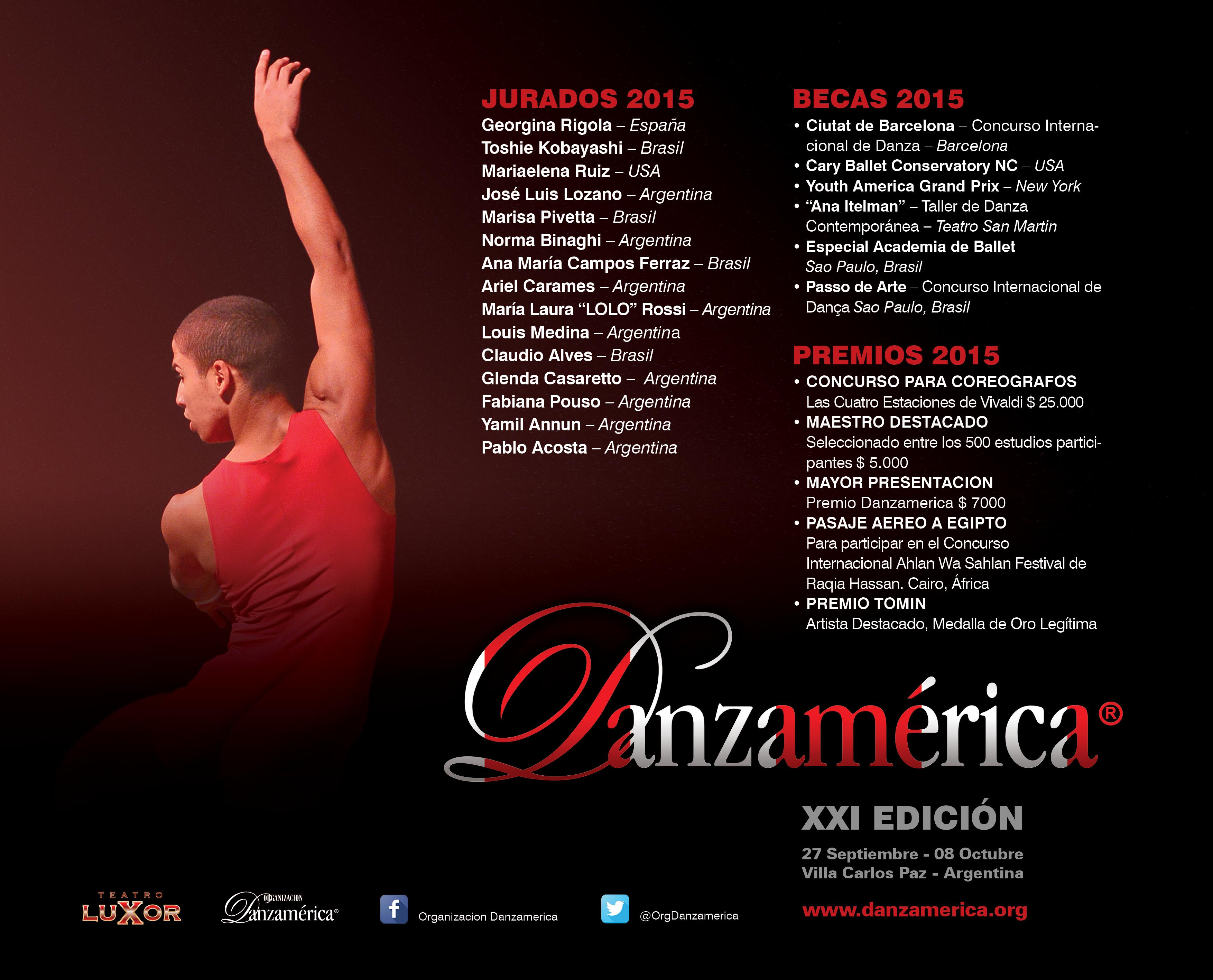 Danzamerica 2015 Becas y Premios