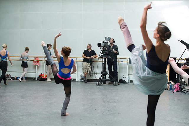 Ensayo en el Ballet del Royal Opera House.