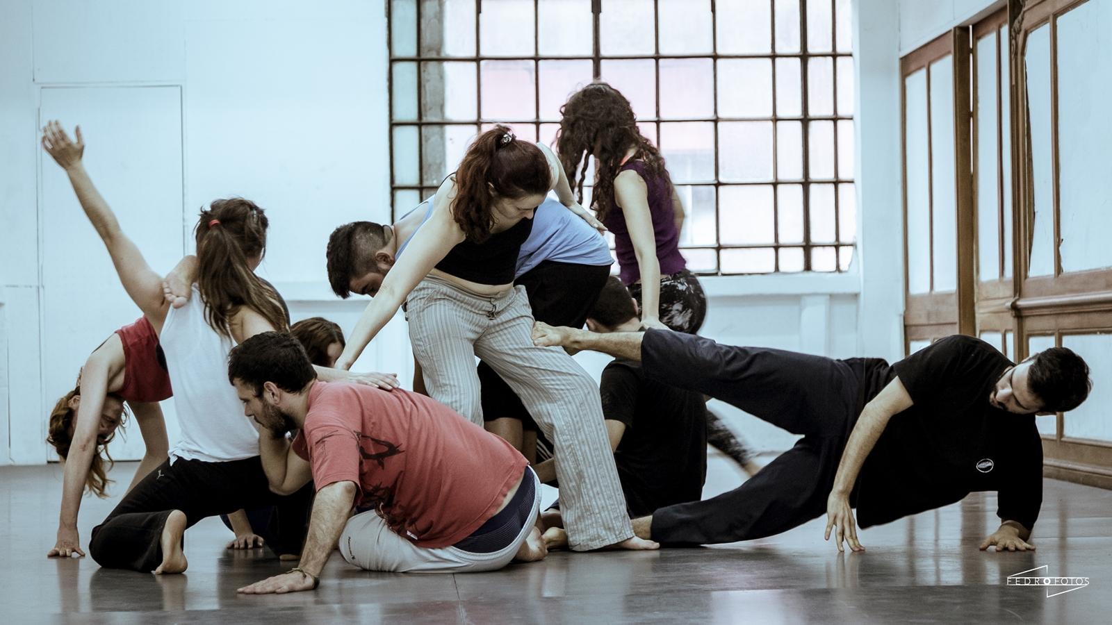 El contact improvisación: desjerarquización de los cuerpos. Fedro Fotografía.