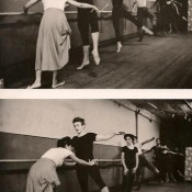 James Dean learns ballet