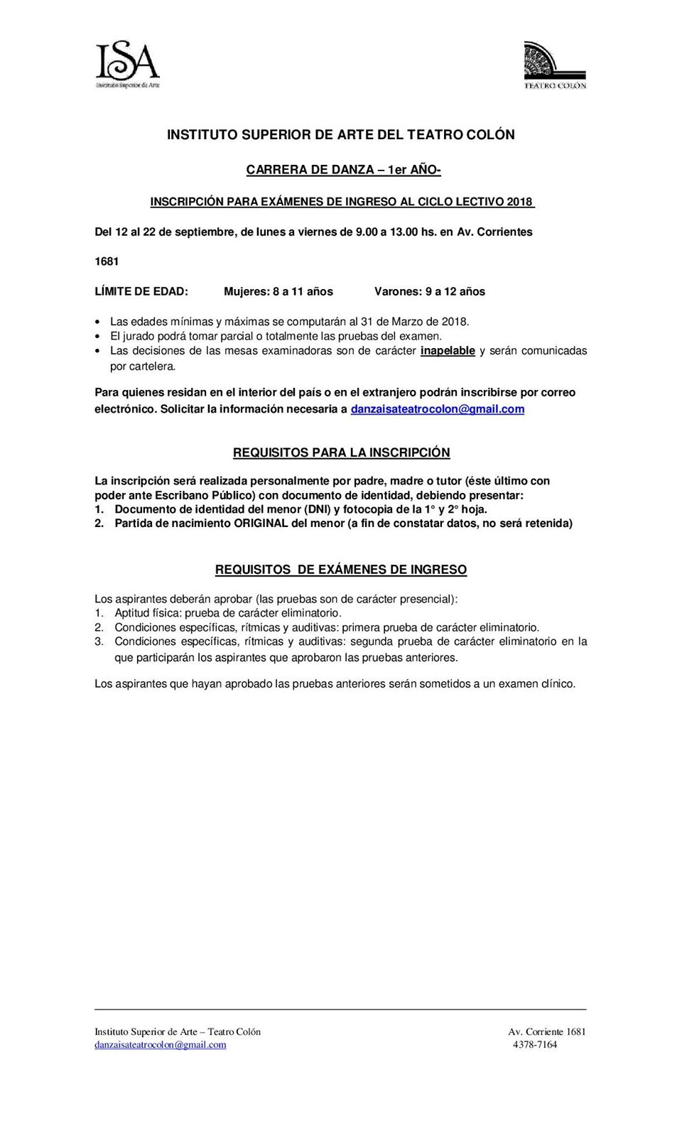 Instituto Superior de Arte del Teatro Colón | Revol - Revista de Danza